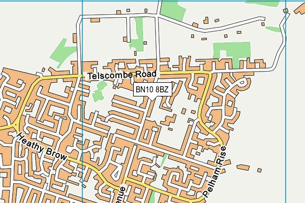 Meridian Community Primary School and Nursery map (BN10 8BZ) - OS VectorMap District (Ordnance Survey)