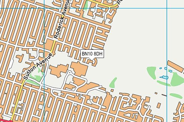 BN10 8DH map - OS VectorMap District (Ordnance Survey)