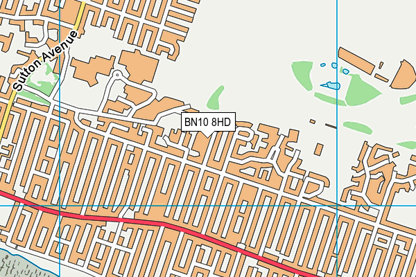 BN10 8HD map - OS VectorMap District (Ordnance Survey)