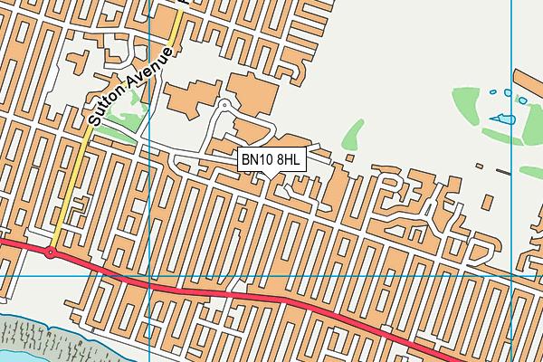 BN10 8HL map - OS VectorMap District (Ordnance Survey)