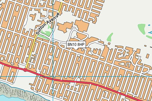 BN10 8HP map - OS VectorMap District (Ordnance Survey)