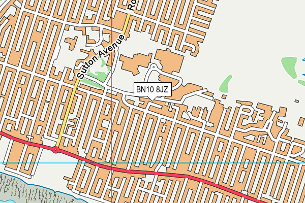 BN10 8JZ map - OS VectorMap District (Ordnance Survey)