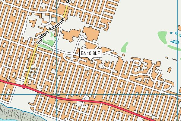 BN10 8LF map - OS VectorMap District (Ordnance Survey)