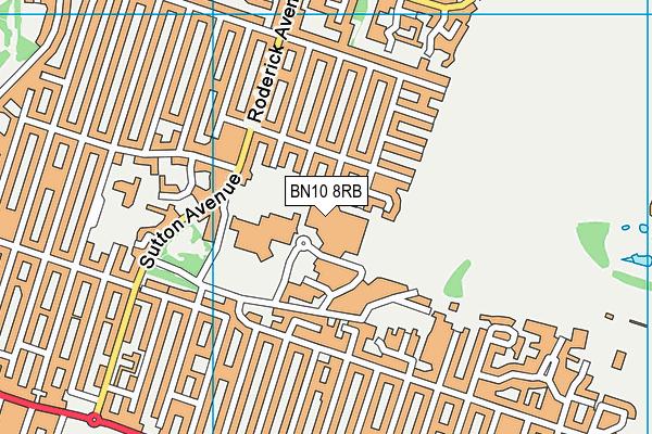 Peacehaven Community School map (BN10 8RB) - OS VectorMap District (Ordnance Survey)