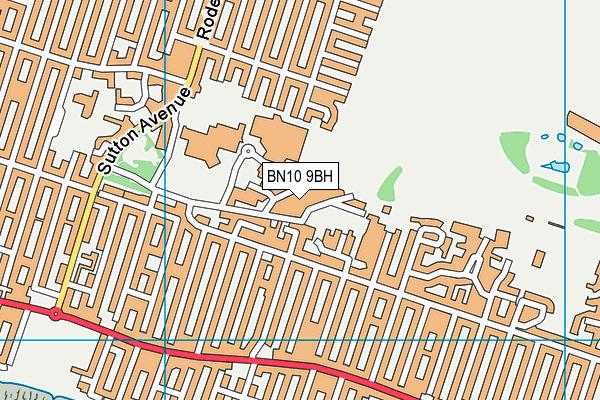 BN10 9BH map - OS VectorMap District (Ordnance Survey)