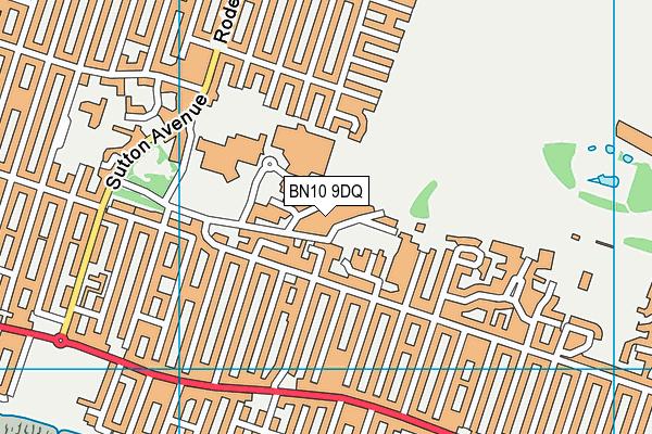 BN10 9DQ map - OS VectorMap District (Ordnance Survey)