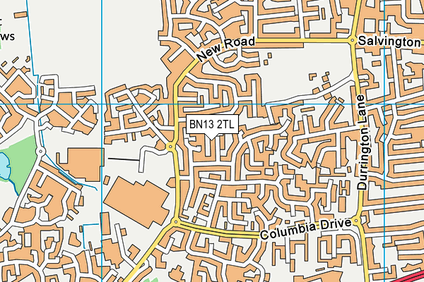 BN13 3LX maps, stats, and open data
