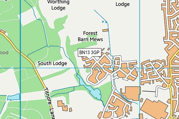 BN13 3DE maps, stats, and open data