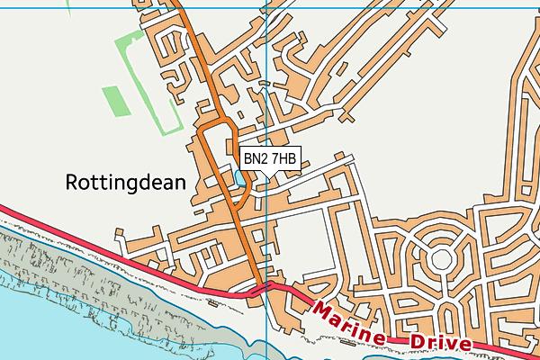 St Margaret's CofE Primary School, Rottingdean map (BN2 7HB) - OS VectorMap District (Ordnance Survey)