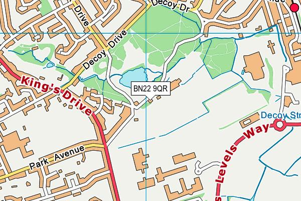 Eastbourne & District Indoor Bowls Club map (BN22 9QR) - OS VectorMap District (Ordnance Survey)