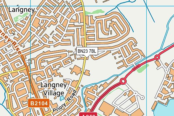 St Catherine's College map (BN23 7BL) - OS VectorMap District (Ordnance Survey)