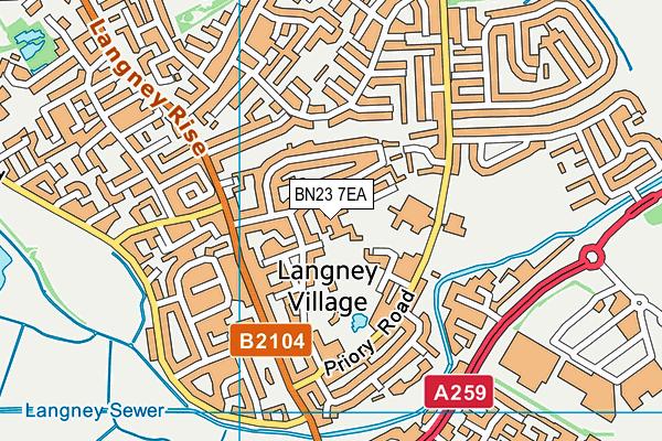 Langney Primary Academy map (BN23 7EA) - OS VectorMap District (Ordnance Survey)