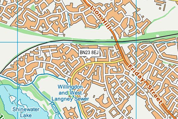 Hazel Court School map (BN23 8EJ) - OS VectorMap District (Ordnance Survey)