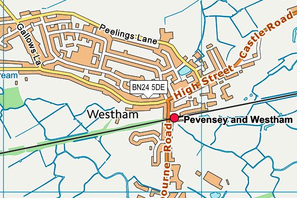 BN24 5DE map - OS VectorMap District (Ordnance Survey)