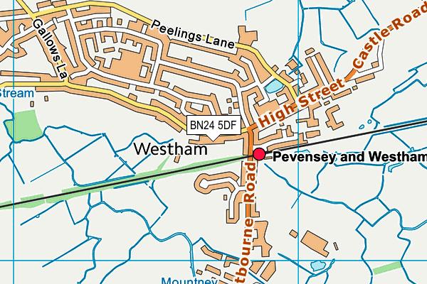 BN24 5DF map - OS VectorMap District (Ordnance Survey)
