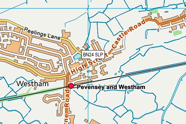 BN24 5LP map - OS VectorMap District (Ordnance Survey)
