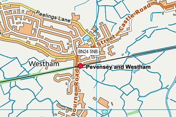 BN24 5NB map - OS VectorMap District (Ordnance Survey)