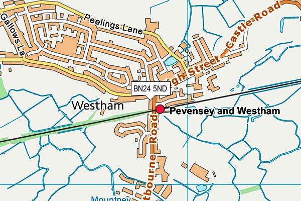 BN24 5ND map - OS VectorMap District (Ordnance Survey)
