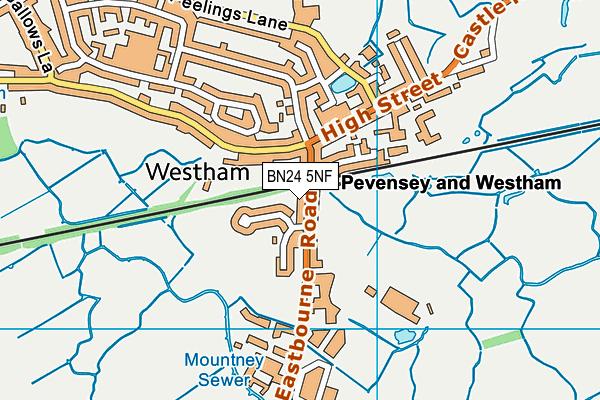 BN24 5NF map - OS VectorMap District (Ordnance Survey)