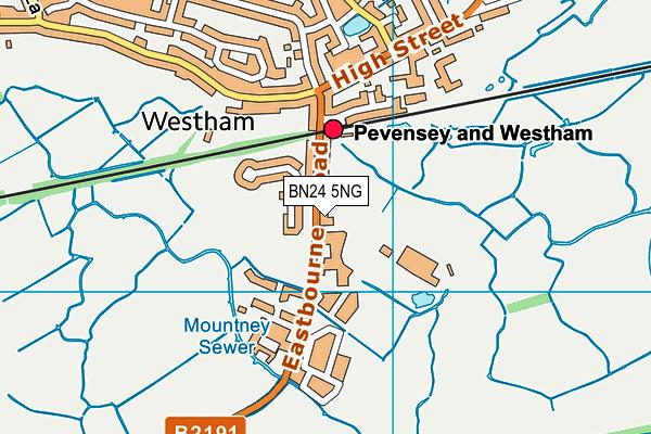 BN24 5NG map - OS VectorMap District (Ordnance Survey)