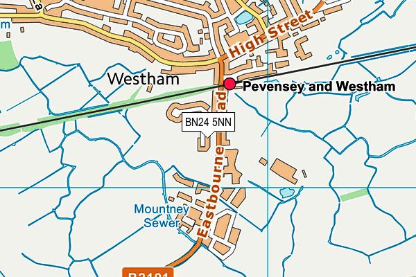 BN24 5NN map - OS VectorMap District (Ordnance Survey)