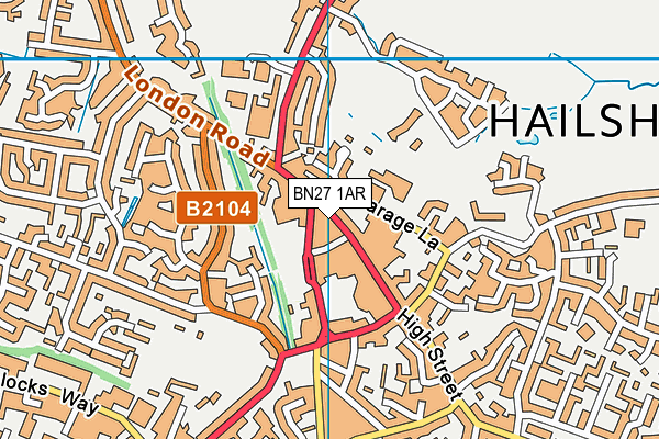 Map of HAILSHAM TECHNOLOGY LTD at district scale