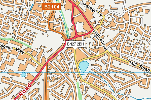 Control Fitness 24/7 (Closed) map (BN27 2BH) - OS VectorMap District (Ordnance Survey)