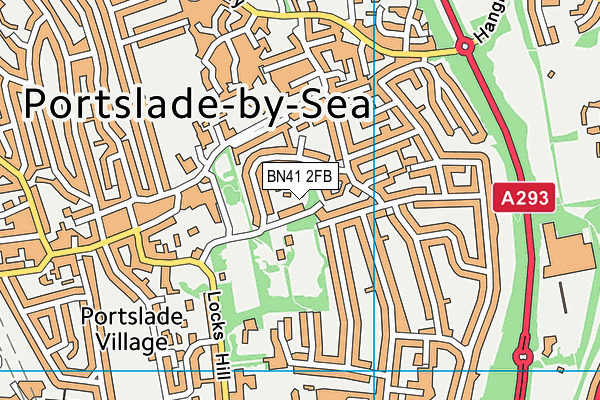 Easthill Park map (BN41 2FB) - OS VectorMap District (Ordnance Survey)
