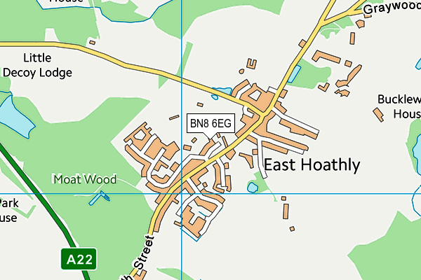 The War Memorial Ground map (BN8 6EG) - OS VectorMap District (Ordnance Survey)