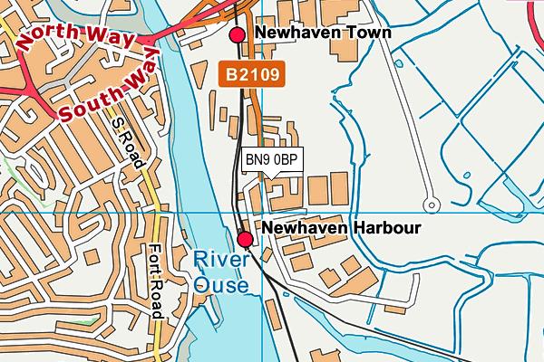 Eastside Recreation map (BN9 0BP) - OS VectorMap District (Ordnance Survey)