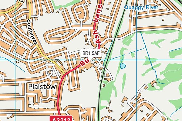 Burnt Ash Library map (BR1 5AF) - OS VectorMap District (Ordnance Survey)