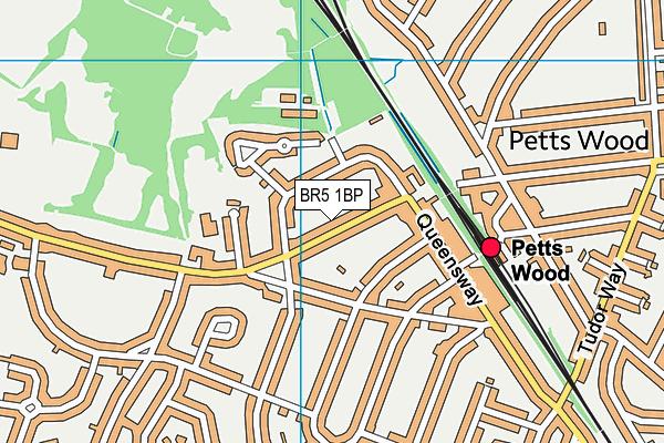 Petts Wood Library map (BR5 1BP) - OS VectorMap District (Ordnance Survey)
