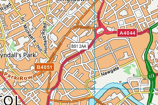 BS1 2AA map - OS VectorMap District (Ordnance Survey)