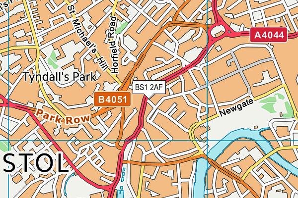 BS1 2AF map - OS VectorMap District (Ordnance Survey)
