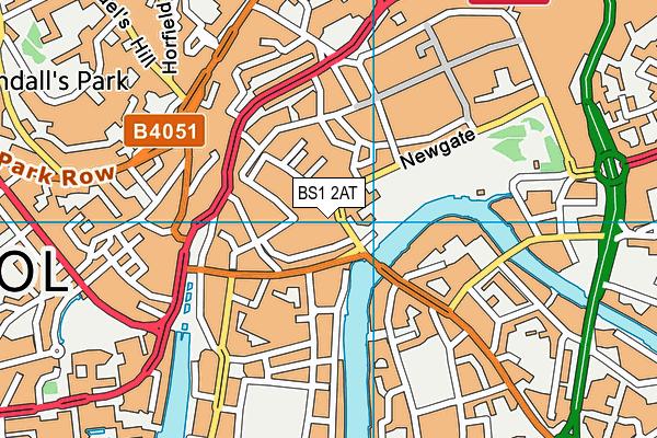 BS1 2AT map - OS VectorMap District (Ordnance Survey)