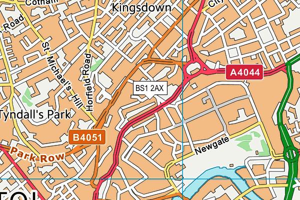 BS1 2AX map - OS VectorMap District (Ordnance Survey)