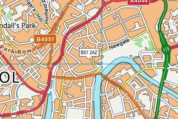 BS1 2AZ map - OS VectorMap District (Ordnance Survey)