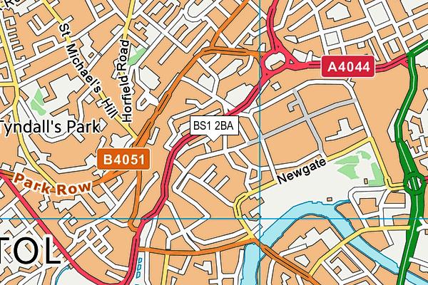 BS1 2BA map - OS VectorMap District (Ordnance Survey)