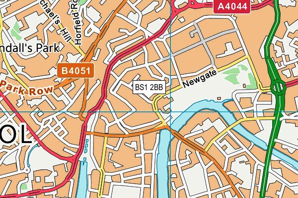 BS1 2BB map - OS VectorMap District (Ordnance Survey)