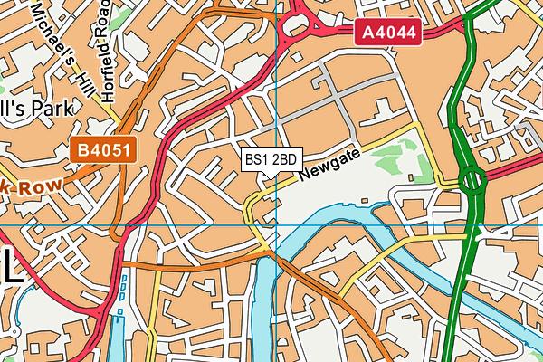 BS1 2BD map - OS VectorMap District (Ordnance Survey)