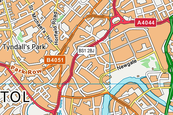 BS1 2BJ map - OS VectorMap District (Ordnance Survey)