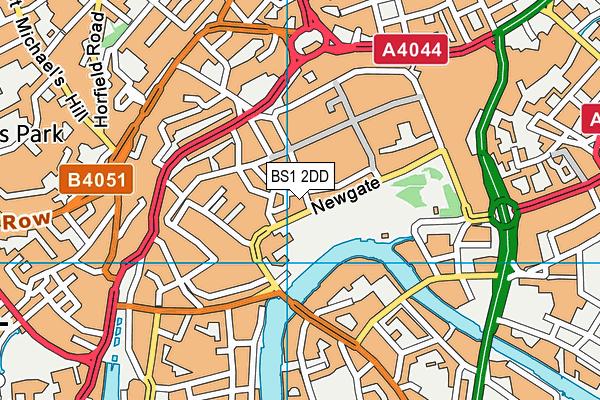 BS1 2DD map - OS VectorMap District (Ordnance Survey)