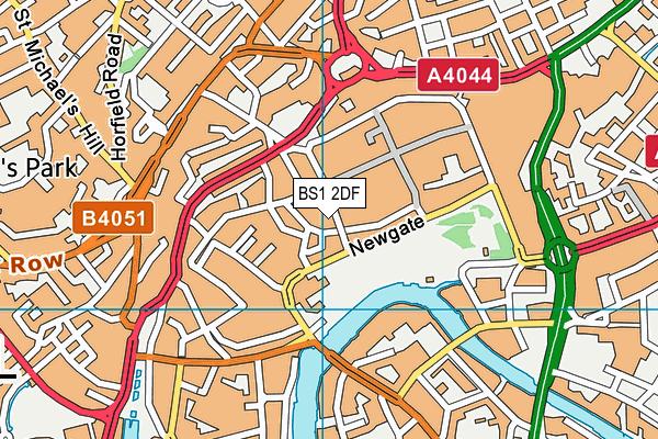 BS1 2DF map - OS VectorMap District (Ordnance Survey)