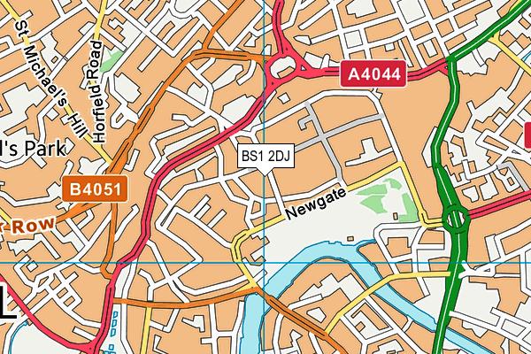 BS1 2DJ map - OS VectorMap District (Ordnance Survey)