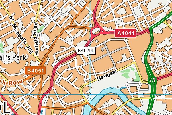 BS1 2DL map - OS VectorMap District (Ordnance Survey)