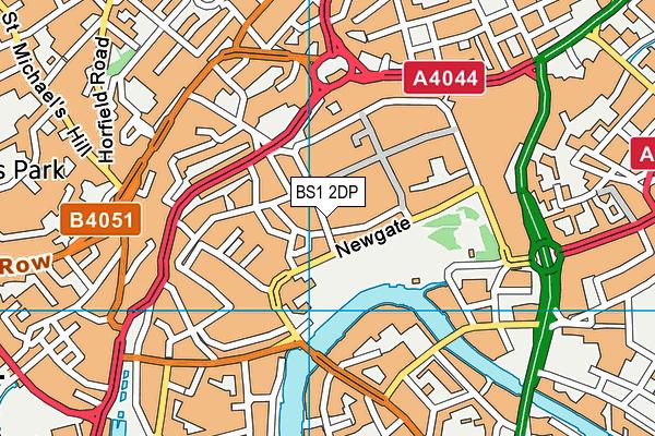 BS1 2DP map - OS VectorMap District (Ordnance Survey)