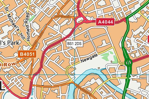 BS1 2DS map - OS VectorMap District (Ordnance Survey)