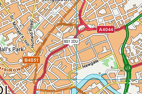 BS1 2DU map - OS VectorMap District (Ordnance Survey)