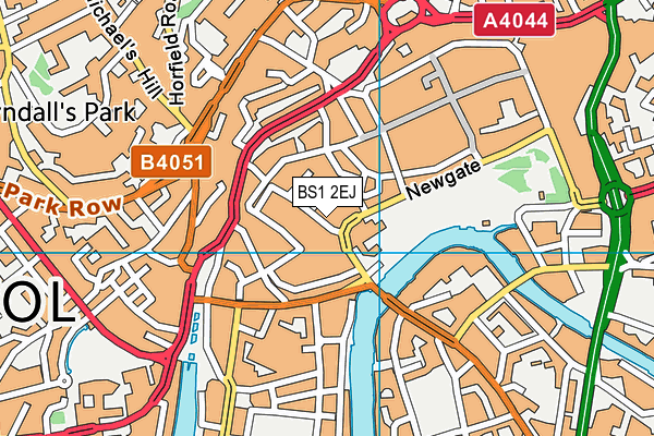 BS1 2EJ map - OS VectorMap District (Ordnance Survey)
