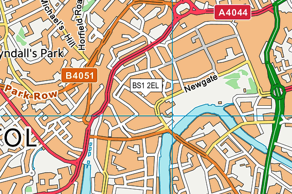 BS1 2EL map - OS VectorMap District (Ordnance Survey)